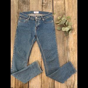 West Denim Blue Jeans Ankle